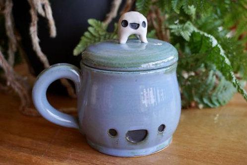 Lidded Kawaii Happy Mug