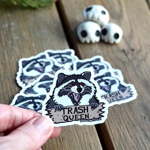 Raccoon Trash Queen Sticker