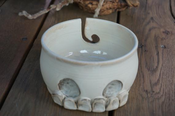 skull yarn bowl