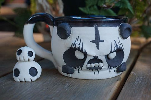Angry Death Panda Tea Bowl