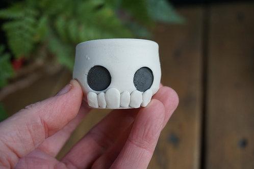 Porcelain Skull Mini Planter