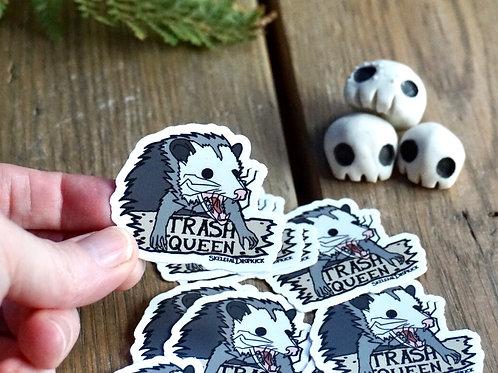 Opossum Trash Queen Sticker