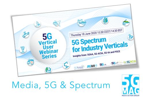 """18.06.2020 - Webinar """"5G Spectrum for Industry Verticals"""""""