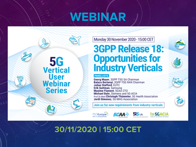 30.11.2020 - 3GPP Release 18: Opportunity for Industry Verticals