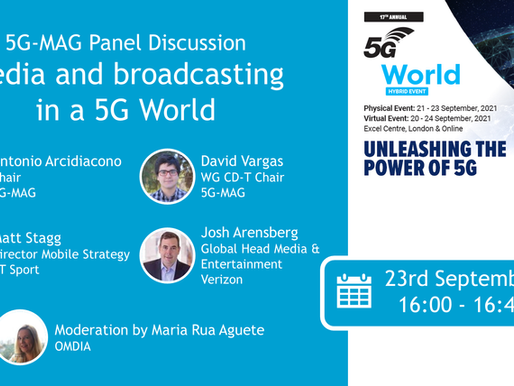 23.09.2021 - 5G-MAG Panel Discussion at 5G World