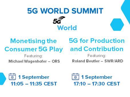 """01.09.2020 - 5G-MAG members at """"5G World"""""""