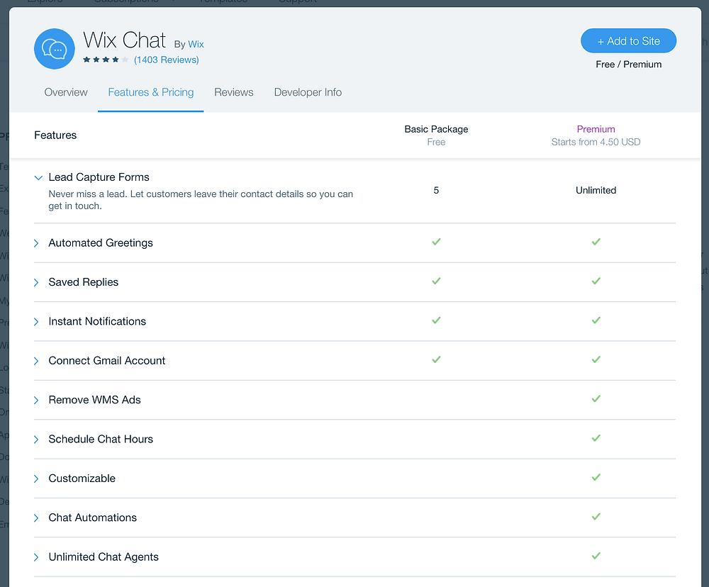 Overzicht Wix Chat | Eerste Hulp Bij Wix