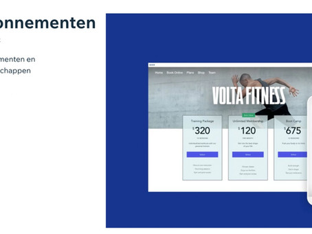 Abonnementen of lidmaatschappen verkopen via jouw Wix website