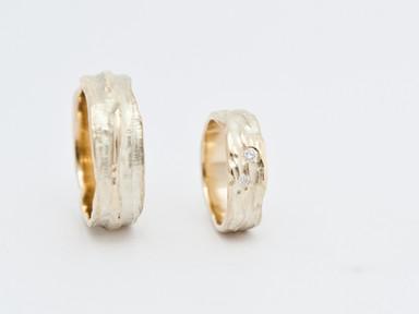 Geelgoud en diamant