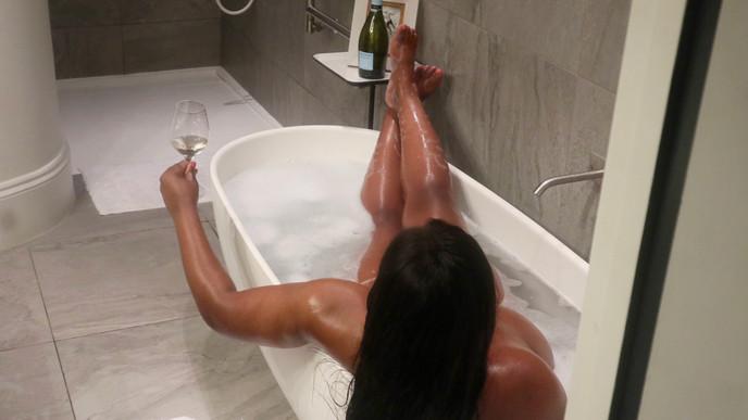Brooke Sips Champagne