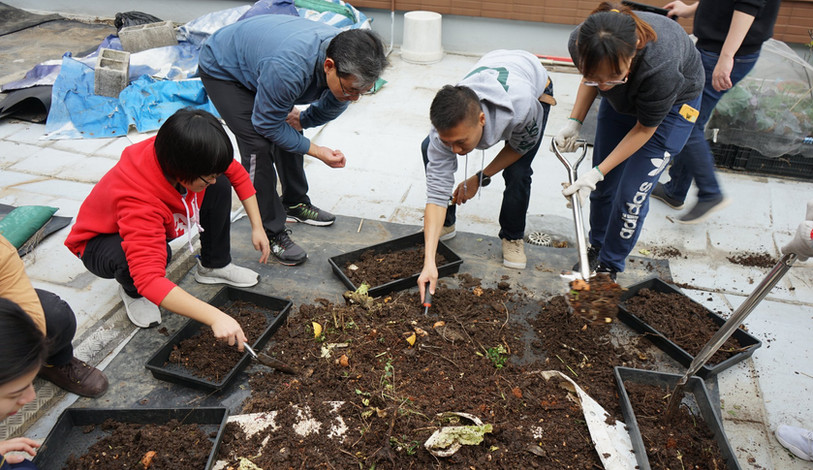 Composting at Rooftop Farm
