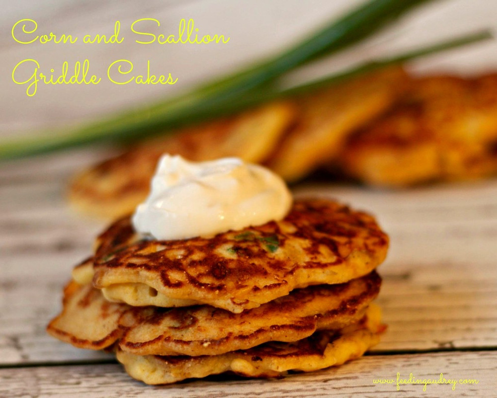 Corn and Scallion Griddle Cake  www.redkitchenette.com