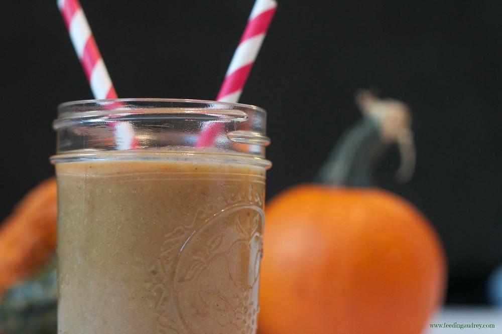 Chai Pumpkin Smoothie www.redkitchenette.com