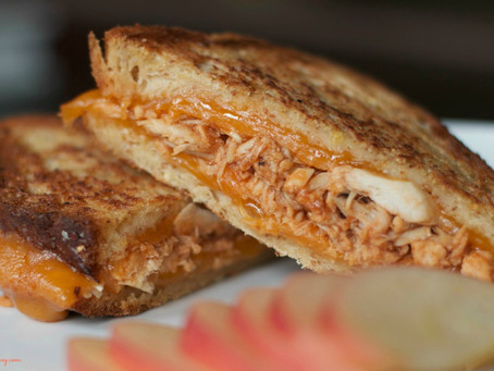 5 Ingredients or Less: BBQ Chicken Grilled Cheese