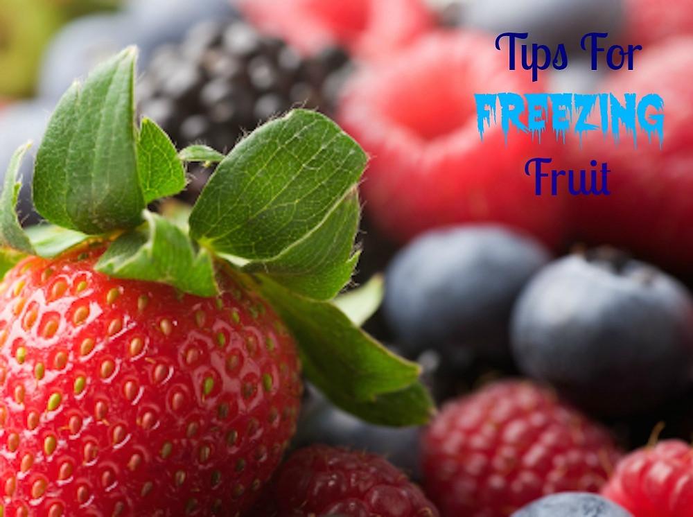 Tips For Freezing Fruit  www.redkitchenette.com