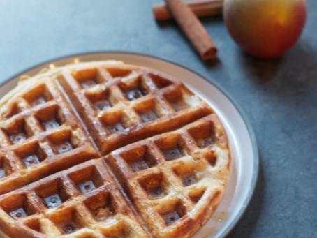Whole-Grain Apple Cinnamon Waffles