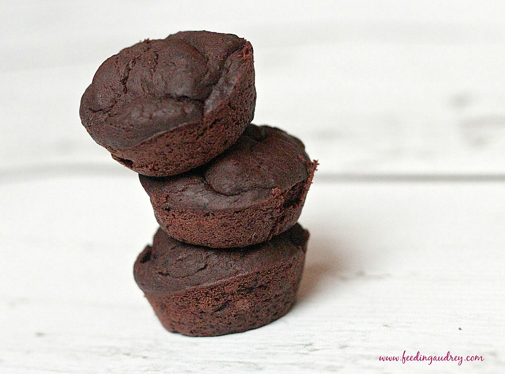 Flourless Black Bean Chia Seed Brownie www.redkitchenette.com