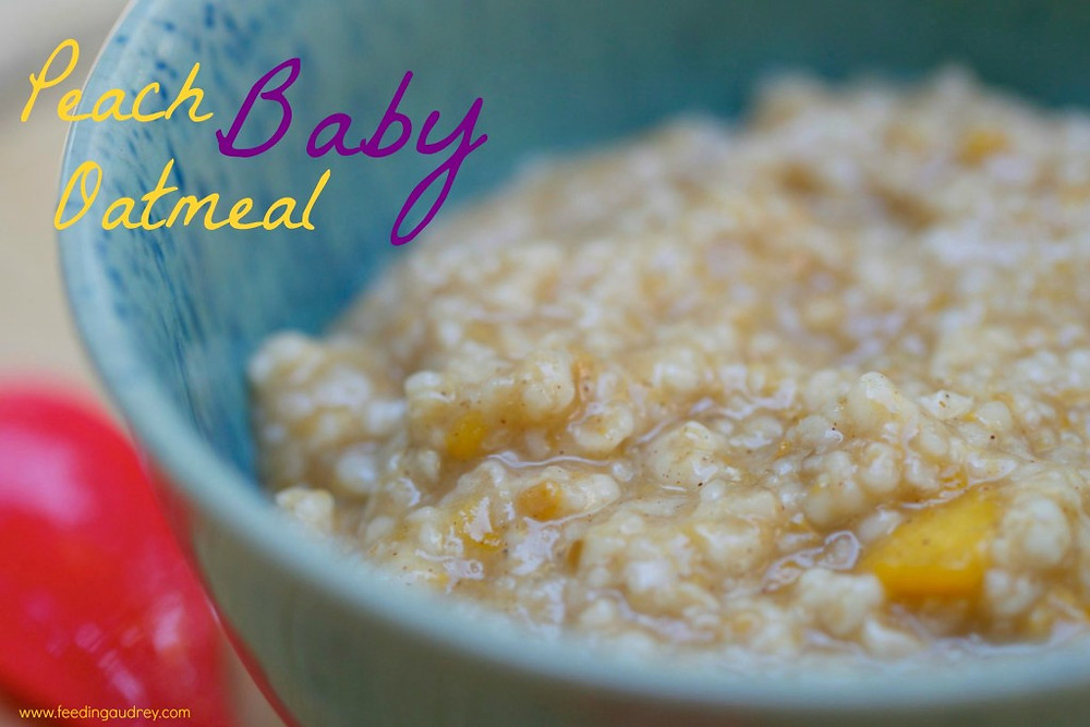 Peach Oatmeal Baby Food www.redkitchenette.com