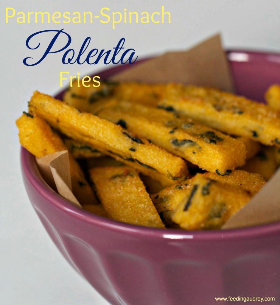 Parmesan-Spinach Polenta Fries www.redkitchenette.com