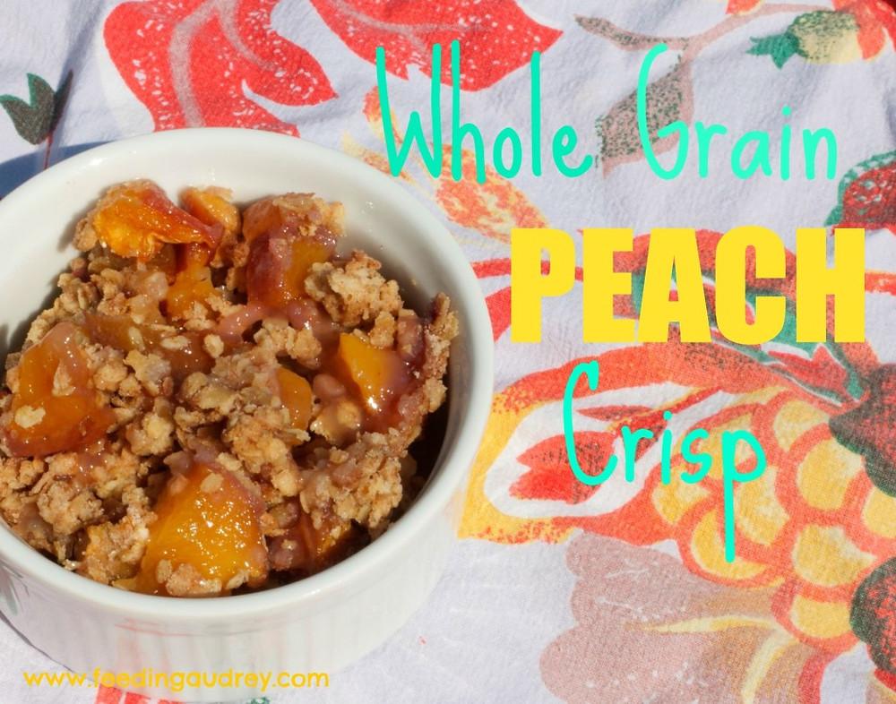 Whole-Grain Peach Crisp  www.redkitchenette.com
