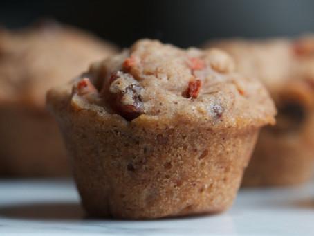 Carrot-Raisin Mini Muffins (V, GF)