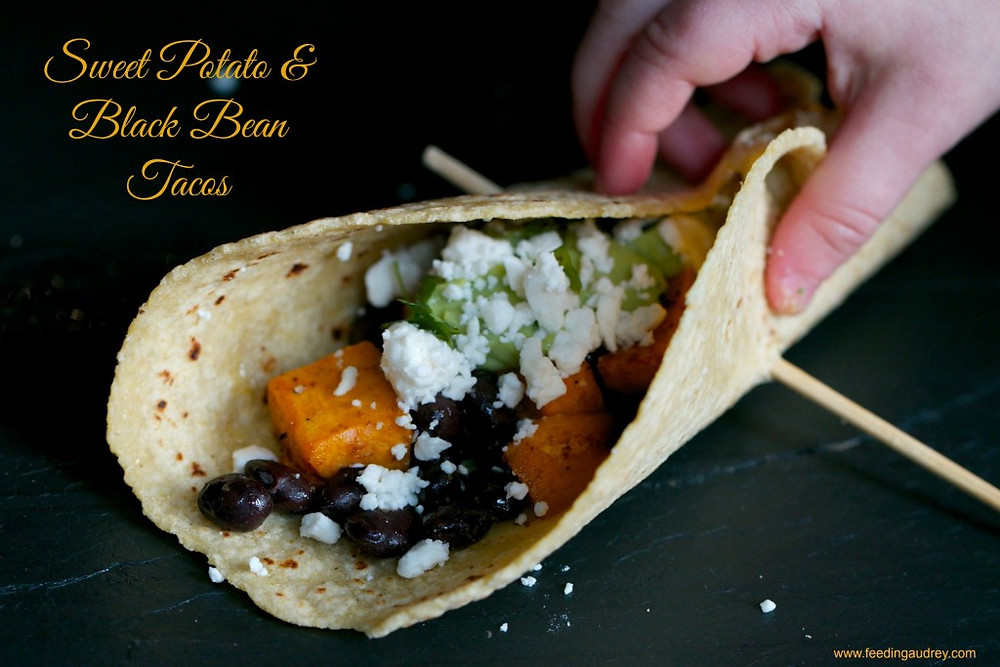 Sweet Potato and Black Bean Tacos  www.redkitchenette.com