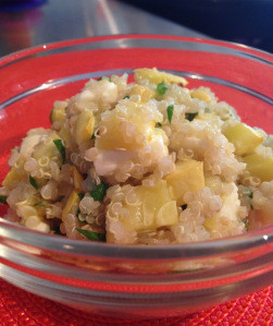 Recipe: Quinoa Salad with Roasted Yellow Squash and Feta