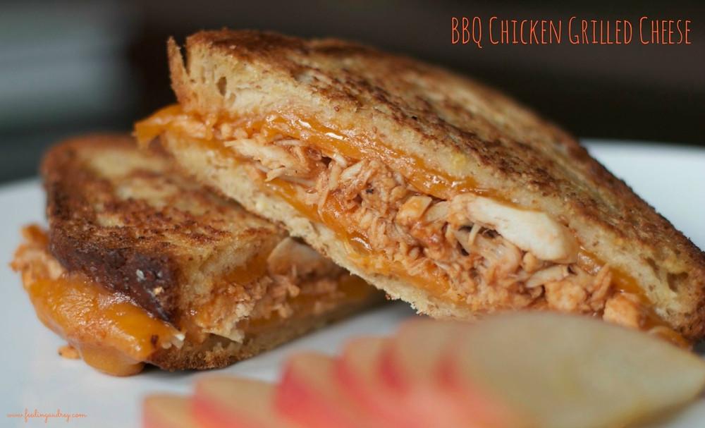 BBQ Chicken Grilled Cheese  www.redkitchenette.com