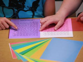 Filtri colorati per il Discomfort Visivo