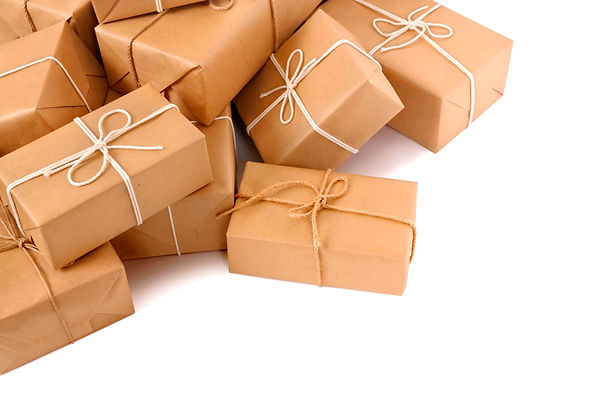 Brown paper packages isolated.jpg