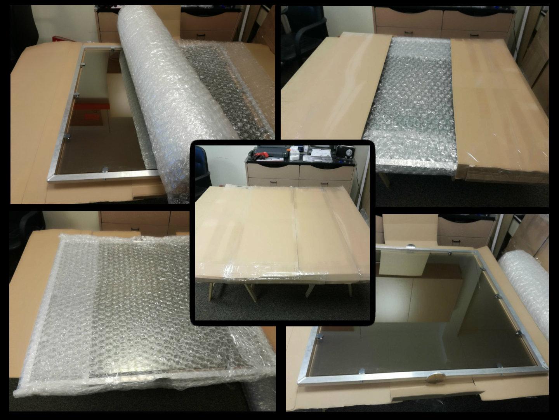Pakowanie i wysyłka luster