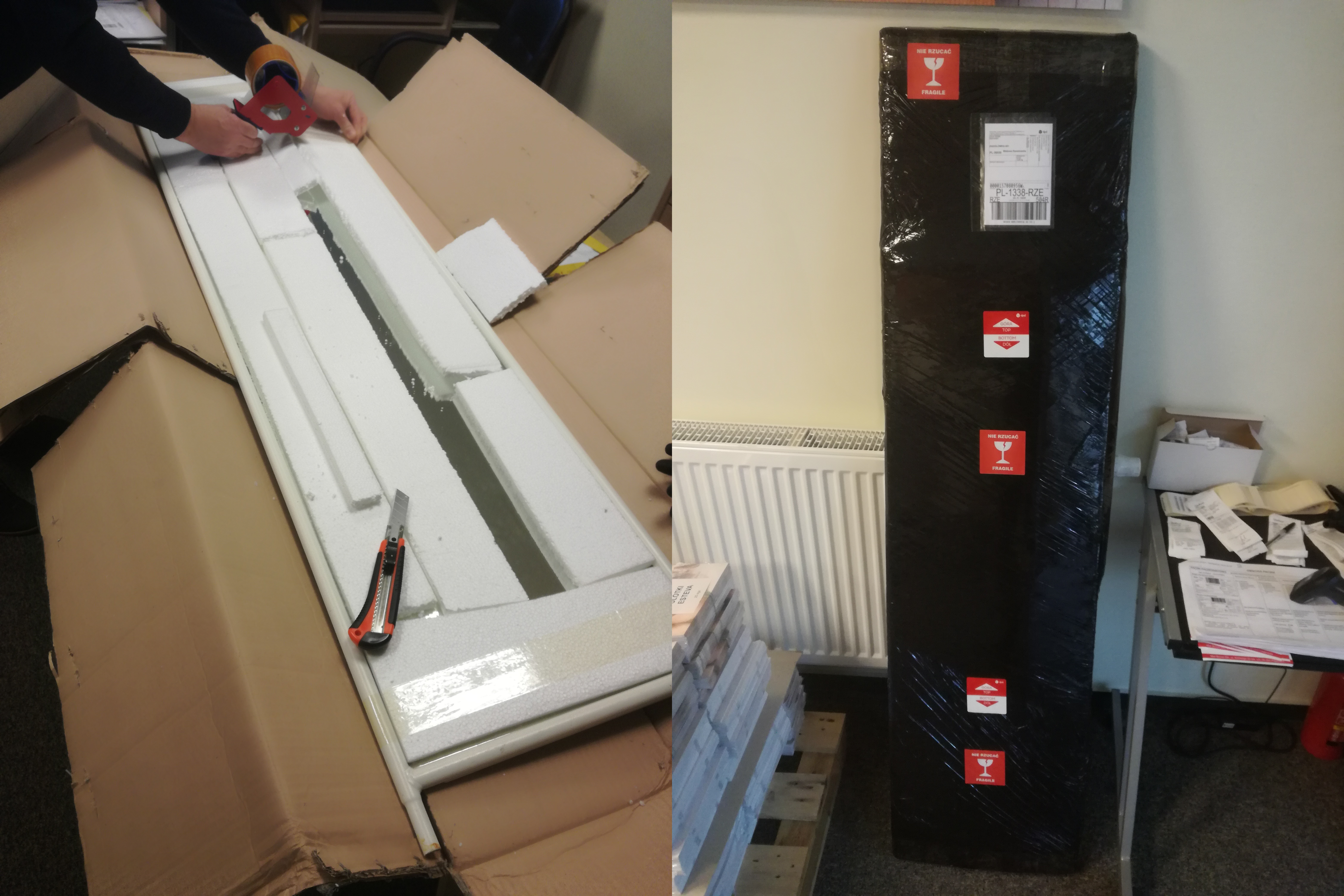 Pakowanie lustra