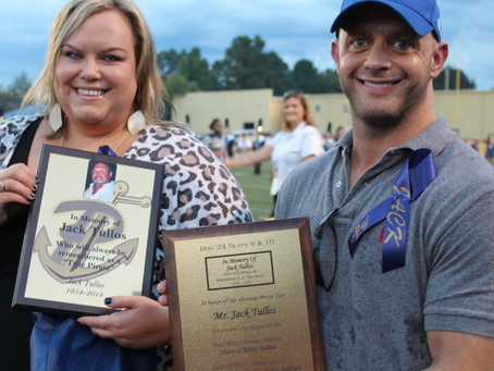 Jack Tullos remembered at Pearl stadium