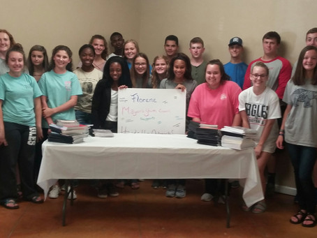 Florence Mayor's Youth Council donates to Hands UP