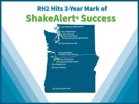 RH2 Hits 3-Year Mark of ShakeAlert® Success