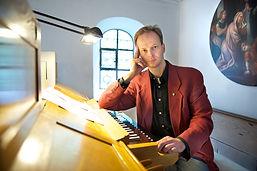 Albin Wirbel als Organist