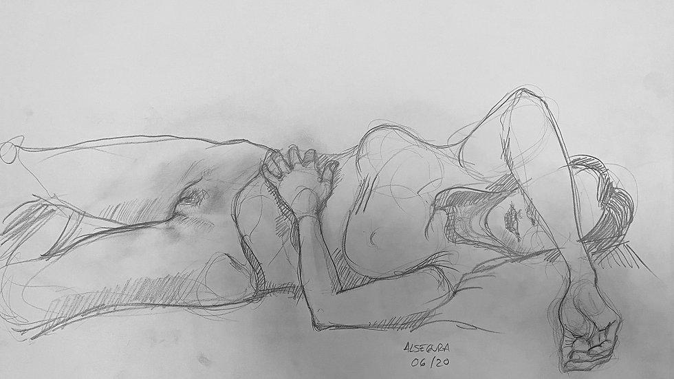 Girl Lying on Bed