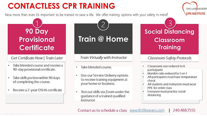 CONTACTLESS CPR TRAINING classes