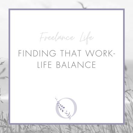 Finding that work-life balance