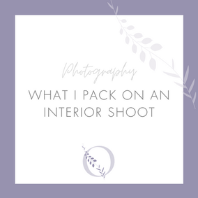 What I pack on an interior shoot