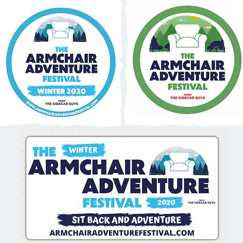 Armchair Adventure Festival Sticker Pack