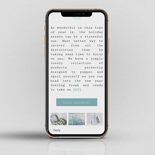 Mockup of mobile phone with email newsletter