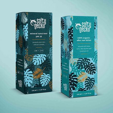 salty gecko packaging design