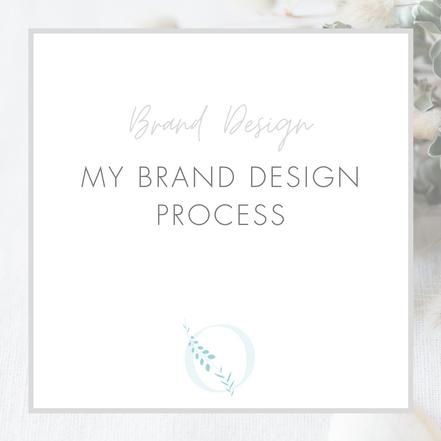 My brand design process