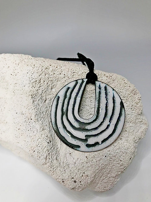 White Enamel Pendant