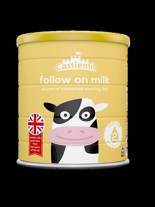 Castlemil follow on milk:  6-12 months. 800g