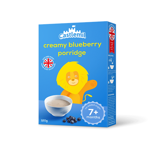 Creamy blueberry porridge. 120g