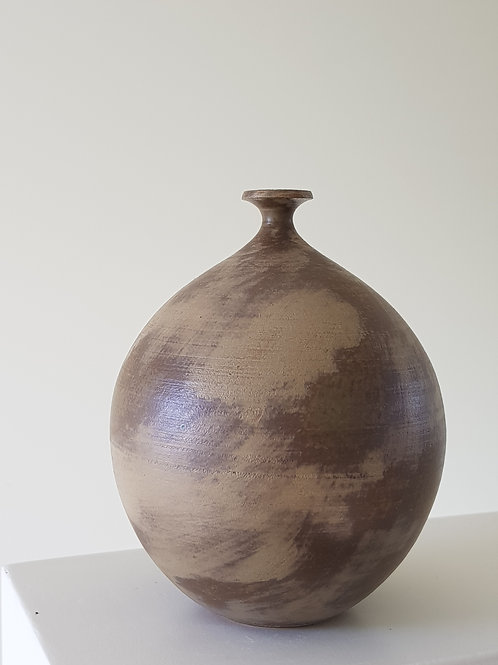Abstract Green Bud Vase