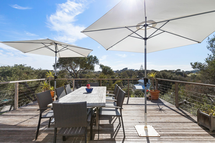 Decking area with tree top views