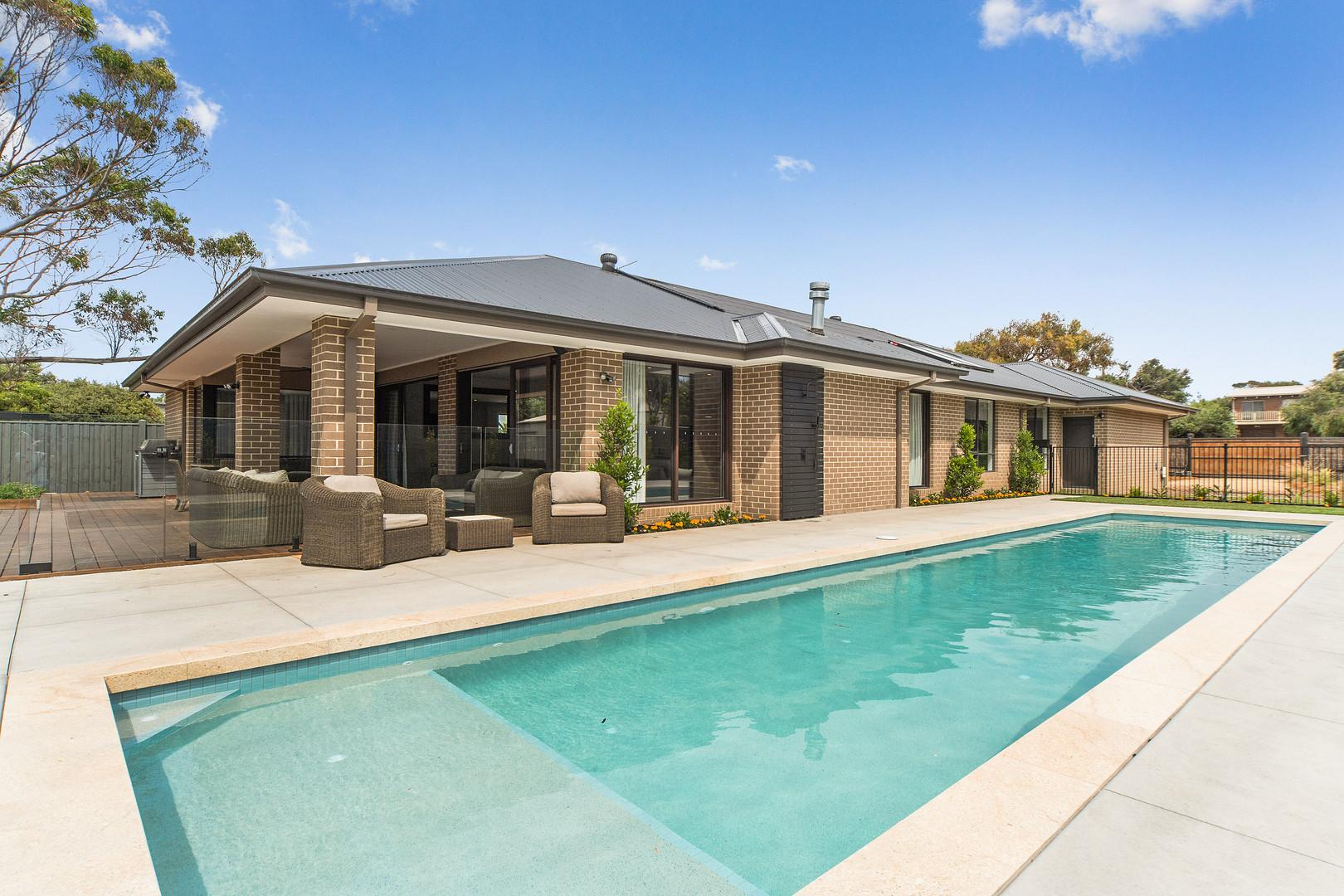 Sparkling solar heated pool
